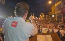 El candidato Germán Vargas Lleras este domingo en Cartago.