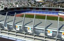 Render de cómo se vería el estadio Metropolitano luego del cambio de cubierta.