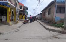 Sector de Pasacaballos, donde fue herido con arma blanca Juan Carlos Alcalá.
