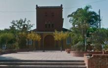 Plaza principal del municipio de Turbana, Bolívar.