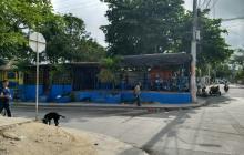Sector del barrio La Manga, donde fue asesinado 'Pudín'.