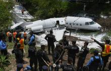 Al menos seis heridos en accidente de avión privado en Honduras