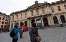 Fachada de la Academia Sueca del Nobel.
