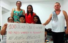 Once madres se toman pacíficamente sede de EPS Coomeva Montería