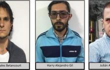 Los presuntos integrantes del Eln capturados.