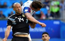 Mascherano supera a Zanetti como el jugador con más partidos con Argentina