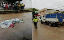 En video   Muere mujer arrollada por camión de alcantarillado en Nueva Granada