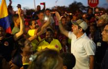 El alcalde de Barranquilla recorrió junto con la comunidad las nuevas calles.