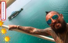 Arturo Vidal disfruta de sus vacaciones en Cartagena