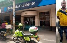 Atraca banco tras partido de Colombia y policía lo captura