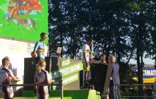 Álex Cujavante, en el podio del Mundial de Holanda.