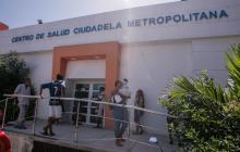 Fachada del Centro de Salud Ciudadela Metropolitana, en Soledad.