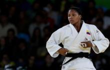 La judoca vallecaucana Yuri Alvear.