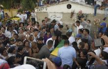 El sepelio de Luis Barrios, líder de Palmar de Varela, se cumplió en el cementerio municipal.