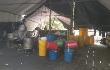 Laboratorio de cocaína destruido en el municipio de Zulia, Norte de Santander.
