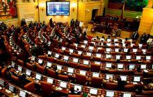 Aspecto de un debate en las instalaciones del Congreso de la República en la capital del país.