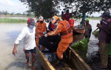Rescatan cadáver de campesino que cayó desde una canoa al río Sinú