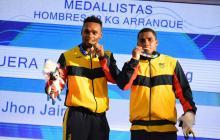 Francisco Mosquera y Jhon Serna se subieron al podio en la halterofilia