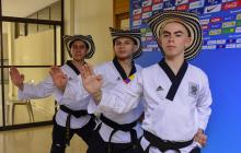 Colombia, oro en taekwondo modalidad poomsae Freestyle por equipos