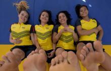 De izquierda a derecha, Paula Ruiz, Geraldine Peña, Stefanny Medina y Shanee Torres.