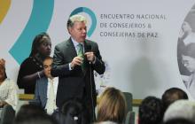 El presidente Santos, en el Primer Encuentro de Consejeros y Consejeras de Paz.