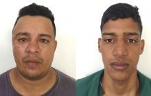 Darwin Bovea y Yeider Gutiérrez, capturados.