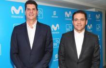 Andrés Quintero, gerente General de Ericsson Colombia y Fabián Hernández, presidente de Telefónica en Colombia.