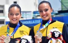 Mónica y Estefanía, plata en dueto técnico de natación artística