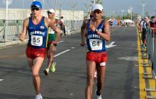 Colombia gana plata y bronce en marcha 50 kilómetros