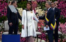 La alfombra azul en la posesión de Iván Duque