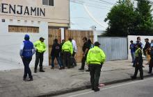 Operativo de allanamiento a Casa Benjamín, en el sector de El Laguito.