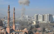 Imagen de la zona afectada después de la detonación.