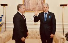 Duque posesionó a Amín como alto consejero presidencial para la política