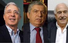Se reúnen Uribe, Gaviria y Pastrana para hablar del contralor y la coalición