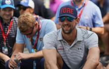 Phelps estuvo presenciando el PGA 2018 en Bellerive.