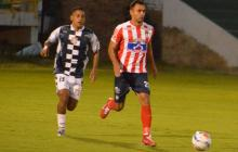 Marlon Piedrahíta en acción en el duelo ante Chicó.