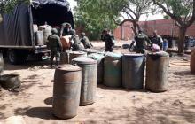 Policía decomisa 2 mil galones de gasolina ilegal en La Guajira