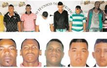 Diego López Guevara, Edwin Palomeque , José Cortina Gutiérrez, Oscar Penidado y Óscar Blanco Finamores; miembros de la estructura criminal de los 'Papalópez' capturados por el delito de desaparición forzada.