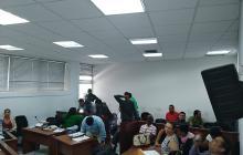 Aspecto de la audiencia pública  contra los 15 capturados de 'Los Costeños.'