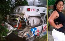 Enfermera fallece en accidente de tránsito con ambulancia en Sabanalarga