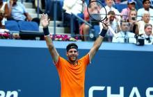 Del Potro desactiva al cañonero Isner y va a semis del US Open