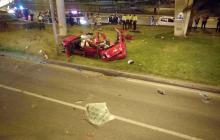 Accidente de tránsito en Bogotá deja tres muertos y un herido