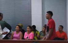 Los presuntos miembros de 'Los Centrales' en su presentación ante un juez.