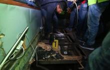 La droga hallada en el interior del bus accidentado en Ecuador.