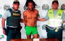 Víctor Manuel Flórez Caña, en 2017, cuando fue detenido por agresión.