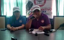 José Jiménez y Dennis Polo anuncian el plantón.