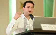 El contralor general de la República, Carlos Felipe Córdoba, participó en el Congreso anual de Confecámaras.