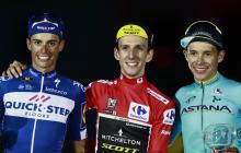 'Supermán' López se subió al podio de la Vuelta a España que ganó Simon Yates