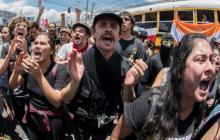 Protestantes salieron a las calles de las principales ciudades de Costa Rica.
