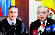 Magistrados de la CSJ Luis Antonio Hernández (izq) y José Luis Barceló (der).